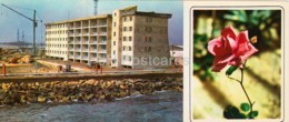Neftyanye Kamni - Neft Daslari - Apartment Building - Flowers - 1975 - Azerbaijan USSR - Unused - Azerbaïjan
