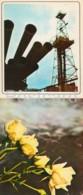 Neftyanye Kamni - Neft Daslari - New Oil Rig - Flowers - 1975 - Azerbaijan USSR - Unused - Azerbaïjan
