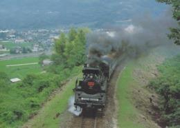 Train - No.YAMAGUCHI Of C57 Type, Japan's Steam Locomotive At Tsuwano-Cho - Trains