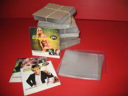 LOT 100 ETUIS OU POCHETTES PLASTIQUE POUR CD SINGLE - 2 TITRES - Accessories & Sleeves