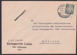 Lübbenau Im Spreewald  Dienstpost 12.12.57 Altstempel Behördenpost, Kreisgericht Calau Nach Lübben - Service
