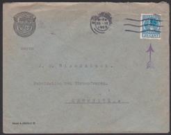 Perfin GRAVENHAGE Brief Nach Chemnitz 20 Cent Mit Firmenlochung 25.9.25 - Periodo 1891 – 1948 (Wilhelmina)