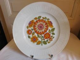 Plat Rond De Service Porcelaine Seltmann Weiden Bavaria Vintage Seventies - Seltmann-Weiden (DEU)