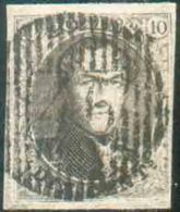N°6 Médaillon 10 Centimes Brun, TB Margé, Pl.IV.. Ex-Scheerlinck. Obl. D.46 PALISEUL TB Frappe. - Superbe - 14651 - 1851-1857 Medaillen (6/8)