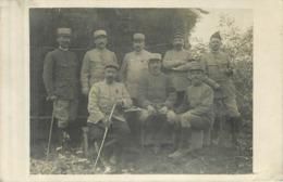 MILITARIA  Groupe De Militaires  Officiers  1 Décoré  2scans - Documents