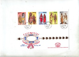 Lettre Fdc 1987 Costume De Ceremonie - Kenya (1963-...)