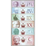 TWN - ROMAN EMPIRE - I-IV-IIX-XX-L-C Sestertii 2018 Set Of 6 - (private Issue) - ERROR (IIX Instead Of VIII) UNC - Banconote