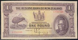 Ref. 732-1154 - BIN NEW ZEALAND . 1934. NEW ZEALAND 1 POUND CHIEF MAORI NUEVA ZELANDA - New Zealand