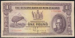 Ref. 732-1154 - BIN NEW ZEALAND . 1934. NEW ZEALAND 1 POUND CHIEF MAORI NUEVA ZELANDA - Nieuw-Zeeland