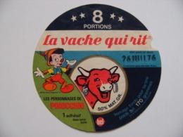 """Etiquette Fromage Fondu - Vache Qui Rit - 8 Portions Bel Pub """"PINOCCHIO&Walt Disney""""   A Voir ! - Cheese"""