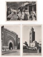 """Maroc. Marrakech. """"Bab Aguenaou"""", """"La Koutoubia Et Le Vieux Marabout"""" Et """"Curieux Effet De Lumière Dans Les Souks"""" - Marrakech"""
