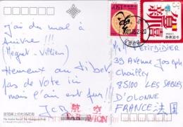 CHINE CHINA  :  Divers Sur Carte Postale De Huangguan Park - 1949 - ... République Populaire