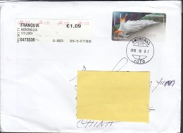 Portugal 2019 ATM Cover To Hong Kong, Fine Used - ATM/Frama Labels