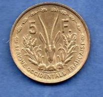 A O F--  5 Francs 1956 -  état SUP - Kolonien