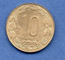 Afrique Centrale --  10 Francs 1975 -  état SUP - Kolonien