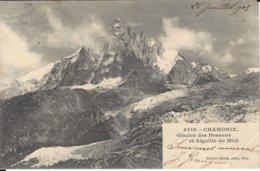 74 LES BOSSONS AIGUILLE DU MIDI GLACIER DES BOSSONS VALLEE DE CHAMONIX MONT BLANC Editeur GILETTA  3519 - Chamonix-Mont-Blanc