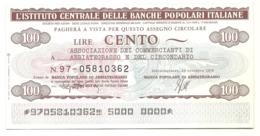 1976 - Italia - Istituto Centrale Delle Banche Popolari Italiane - Ass. Comm. Di Abbiategrasso E Circondario - [10] Scheck Und Mini-Scheck