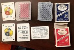 VINTAGE Lot 2 Jeux De 52 Cartes VIASSONE TORINO. Cartes Plastifiées. Années 70. TRES BON ETAT - Autres Collections