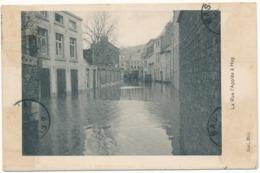 HUY - Inondations, La Rue L'Applée - Manque Timbres Recto Et Verso - Hoei