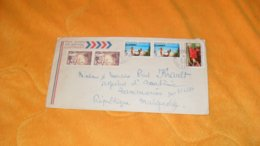 ENVELOPPE DE 1975...POLYNESIE FRANCAISE ..PAPEETE ILE DE TAHITI POUR TANANARIVE MADAGASCAR..CACHETS + TIMBRES - Polinesia Francesa