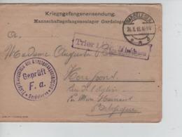 PR7501/ Lettre PDG-POW-KFS Camp De Gardelegen C.Gardelegen Geprüft F.a.+ Censure Trier > Henripont - WW I
