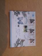 Enveloppe Argentine Distribuée Avec Des Timbres Papillon - Argentinien