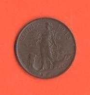 1 Centesimo 1913 Regno Italia Re Vitt. Emanuele III° - 1861-1946: Königreich