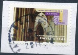 France - Art Gothique - Bayeux YT A560 Obl. Cachet Rond Manuel Sur Fragment - Adhésifs (autocollants)