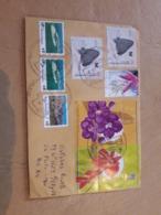 Enveloppe Argentine Distribuée Avec Timbres Papillons Et Fleurs - Briefe U. Dokumente