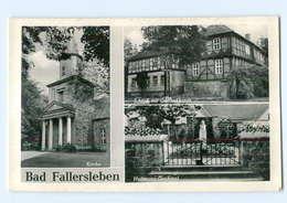 U256-3180/ Bad Fallersleben Schloß Kirche Hoffmann-Denkmal AK - Zonder Classificatie