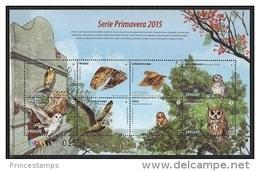 Uruguay (2015) - MS -   /  Birds - Oiseaux - Owls - Eulen - Aves - Eulenvögel