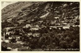 Albania, KRUJA KRUJË, Pamje Madhshtore E Malit Sarisalltik (1930s) Postcard - Albania