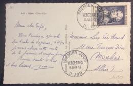 111- Vergennes 1030 Dijon Carte Postale Dijon FDC Premier Jour 11/6/1955 - Cartas Máxima