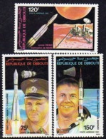Djibouti P.A. N°150 / 52 X : Conquètes Spatiales Les 3 Valeurs Gomme Blanche, Mate  Trace De Charnière Sinon TB - Djibouti (1977-...)