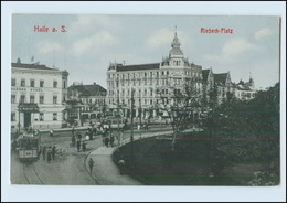 N3640-061./ Halle Saale Riebeck-Platz Straßenbahn AK Ca.1910 - Germania