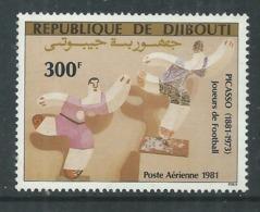 """Djibouti P.A. N°153 X : Anniversaires De Picasso : """"Joueurs De Football"""" Gomme Blanche, Mate Trace De Charnière Sinon TB - Djibouti (1977-...)"""