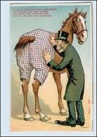 Y5018/ Eine Hose Für Das Pferd  Litho Humor AK Ca.1910 - Paarden