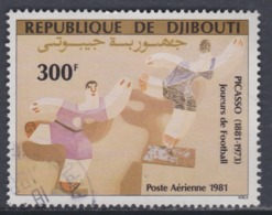 "Djibouti P.A. N°153 O : Anniversaires De Picasso  : ""Joueurs De Football""  Oblitéré, TB - Djibouti (1977-...)"