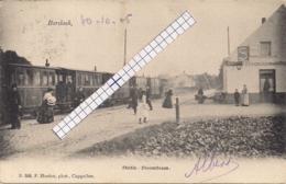 """BORSBEEK-BORSBEECK """"STATIE VAN DE STOOMTRAM-CAFE SINGER """"HOELEN 568 UITGIFTE 1904 TYPE 3 - Borsbeek"""