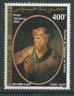 """Djibouti P.A. N°154 X : Annive.de Rembrandt : """"Portrait De L'homme Au Turban"""" Gomme Blanche, Trace De Charnière Sinon TB - Djibouti (1977-...)"""