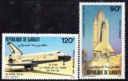 Djibouti P.A. N°155 / 56 X : Conquète De L'Espace  La Paire Gomme Blanche, Mate  Trace De Charnière Sinon TB - Djibouti (1977-...)