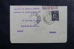 PORTUGAL - Enveloppe ( Retaillée En Haut ) Pour La France En 1918 Avec Cachet De Censure- L 44947 - 1910-... République