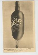 PUBLICITÉ - Carte PUB Pour Le Vin Tonique KOTO - TONIC WINE - 5 Boulevard Beaumarchais à PARIS - Le Ballon Bouteille - Publicité