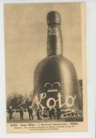 PUBLICITÉ - Carte PUB Pour Le Vin Tonique KOTO - TONIC WINE - 5 Boulevard Beaumarchais à PARIS - Gonflage Du Ballon - Publicidad