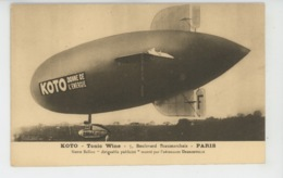 PUBLICITÉ - Carte PUB Pour Le Vin Tonique KOTO - TONIC WINE - 5 Bld Beaumarchais à PARIS - Ballon Dirigeable Publicité - Publicidad