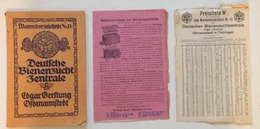 Catalogo Industriale Apistico Gerstung Deutschen Bienenzuchtzentrale - Vecchi Documenti