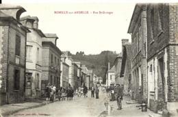 CPA 27 ROMILLY Sur ANDELLE Rue St Georges , Très Animée , - Otros Municipios