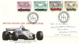 (DE 27) UK FDC Cover - 1982 - British Motor Car + Formula 1 Keke Rosberg Saudia Wiliams FW 08 - Automobilismo