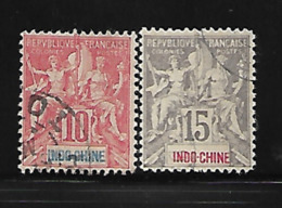 Indochine 1900 Yvert 18 & 19 Oblitérés (AA69) - Indochina (1889-1945)