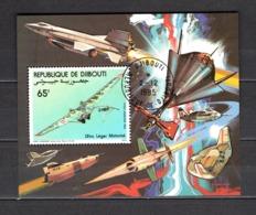 DJIBOUTI  BLOCS SPECIAUX PA N° 197  OBLITERE  COTE  ? €    ULM  AVION - Djibouti (1977-...)